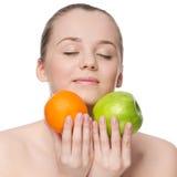 το μήλο τρώει την πράσινη πο&rho Στοκ φωτογραφίες με δικαίωμα ελεύθερης χρήσης