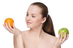 το μήλο τρώει την πράσινη πο&rho Στοκ εικόνα με δικαίωμα ελεύθερης χρήσης