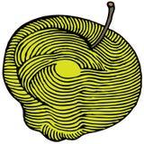 το μήλο χάραξε κίτρινο Στοκ Εικόνες