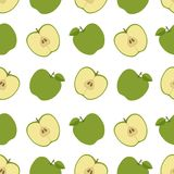 το μήλο όπως η ανασκόπηση είναι μπορεί χρησιμοποιημένη ταπετσαρία Άνευ ραφής πρότυπο με τα μήλα Επίπεδο ύφος επίσης corel σύρετε  Στοκ Φωτογραφία