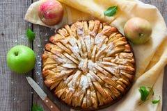 το μήλο έψησε τη φρέσκια πίτ&alp Στοκ Φωτογραφίες