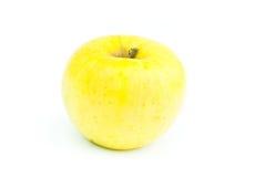 το μήλο απομόνωσε κίτρινο στοκ εικόνα