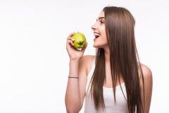 το μήλο τρώει την πράσινη γυ& Στοκ εικόνα με δικαίωμα ελεύθερης χρήσης