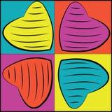 το μίγμα χρωματίζει το σφαιρικό διάνυσμα καρδιών Στοκ Εικόνες