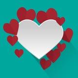 το μίγμα χρωματίζει το σφαιρικό διάνυσμα καρδιών Στοκ φωτογραφία με δικαίωμα ελεύθερης χρήσης