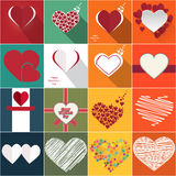 το μίγμα χρωματίζει το σφαιρικό διάνυσμα καρδιών Στοκ εικόνες με δικαίωμα ελεύθερης χρήσης