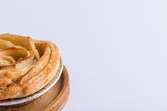 Το μίνι μήλο αυξήθηκε πίτα Στοκ Φωτογραφίες