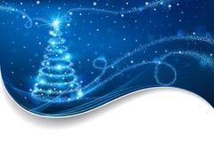 Το μαγικό χριστουγεννιάτικο δέντρο Στοκ Εικόνες