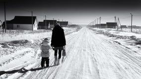 Το μακροχρόνιο σπίτι περιπάτων Στοκ Φωτογραφίες