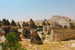 Το μανιτάρι κοιλάδων Pasabag διαμόρφωσε το σχηματισμό βράχου, καπνοδόχοι νεράιδων σε Cappadocia, Τουρκία Στοκ εικόνα με δικαίωμα ελεύθερης χρήσης