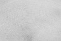 Το ματ ασημένιο μέταλλο επιφάνειας Τα ημικυκλικά κτυπήματα Στοκ εικόνες με δικαίωμα ελεύθερης χρήσης