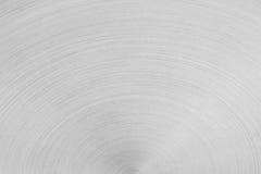 Το ματ ασημένιο μέταλλο επιφάνειας Τα ημικυκλικά κτυπήματα Στοκ φωτογραφία με δικαίωμα ελεύθερης χρήσης