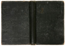 το μαύρο βιβλίο ανασκόπησης στενοχώρησε τον παλαιό τρύγο Στοκ φωτογραφία με δικαίωμα ελεύθερης χρήσης
