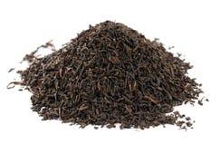το μαύρο γκρι κόμη αφήνει το χαλαρό τσάι Στοκ εικόνες με δικαίωμα ελεύθερης χρήσης