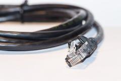 Το μαύρο καθαρό καλώδιο Στοκ φωτογραφία με δικαίωμα ελεύθερης χρήσης