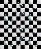 το μαύρο πάτωμα κεραμώνει το υγρό λευκό Στοκ φωτογραφία με δικαίωμα ελεύθερης χρήσης