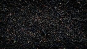 Το μαύρο τσάι περιστρέφεται την κινηματογράφηση σε πρώτο πλάνο απόθεμα βίντεο