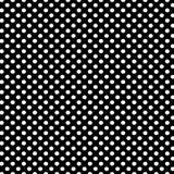 Το μαύρο υπόβαθρο με την άσπρη Πόλκα διαστίζει το σχέδιο Στοκ Φωτογραφία