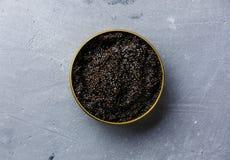 Το μαύρο χαβιάρι μπορεί μέσα Στοκ εικόνες με δικαίωμα ελεύθερης χρήσης