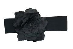 το μαύρο ύφασμα ζωνών αυξήθη Στοκ φωτογραφία με δικαίωμα ελεύθερης χρήσης