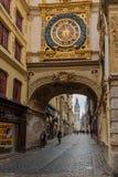 Το μεγάλος-ρολόι του Gros Horloge, στο Ρουέν Στοκ εικόνες με δικαίωμα ελεύθερης χρήσης