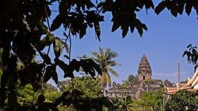 Το μεγάλο αρχαίο μόνιμο κάστρο πετρών σε Siem συγκεντρώνει, διάσημη θέση ταξιδιού ιστορίας της Καμπότζης στοκ εικόνα με δικαίωμα ελεύθερης χρήσης