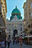 Το μεγάλο βασιλικό παλάτι Hofburg, Αυστρία Στοκ φωτογραφία με δικαίωμα ελεύθερης χρήσης