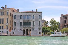 Το μεγάλο κανάλι στη Βενετία Ιταλία στοκ εικόνα με δικαίωμα ελεύθερης χρήσης