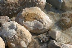 Το μεγάλο κρύσταλλο του άλατος της νεκρής θάλασσας Στοκ φωτογραφία με δικαίωμα ελεύθερης χρήσης