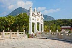 Το μεγάλο μοναστήρι του Βούδα Po Lin στο Χονγκ Κονγκ Στοκ φωτογραφίες με δικαίωμα ελεύθερης χρήσης