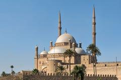 Το μεγάλο μουσουλμανικό τέμενος του αλαβάστρινου μουσουλμανικού τεμένους πασάδων του Muhammad Ali, που τοποθετείται στην ακρόπολη στοκ εικόνες