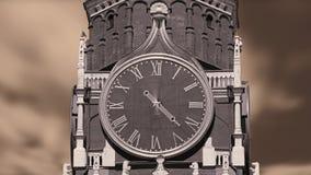 Το μεγάλο ρολόι περιστρέφεται γρήγορα απόθεμα βίντεο