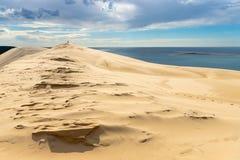 Το μεγάλο τοπίο αμμόλοφων Pyla στοκ φωτογραφίες