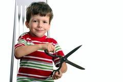 το μεγάλο ψαλίδι παιδιών &epsi Στοκ Εικόνα