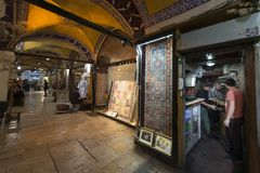 Το μεγάλο Bazaar, μια από την παλαιότερη λεωφόρο αγορών στην ιστορία Αυτή η αγορά είναι στη Ιστανμπούλ, Τουρκία στοκ φωτογραφία με δικαίωμα ελεύθερης χρήσης
