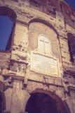 Το μεγάλο αρχαίο Colosseum στη Ρώμη, Ιταλία Στοκ εικόνα με δικαίωμα ελεύθερης χρήσης