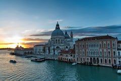 Το μεγάλο κανάλι, Βενετία στο ηλιοβασίλεμα Στοκ εικόνες με δικαίωμα ελεύθερης χρήσης