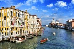 Το μεγάλο κανάλι στη Βενετία, Ιταλία Στοκ φωτογραφία με δικαίωμα ελεύθερης χρήσης