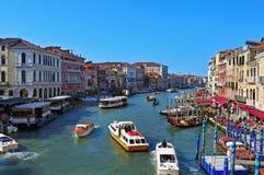 Το μεγάλο κανάλι στη Βενετία, Ιταλία Στοκ εικόνα με δικαίωμα ελεύθερης χρήσης