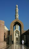 Entranc στο μουσουλμανικό τέμενος qaboos σουλτάνων Στοκ Εικόνες