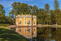 Το μεγάλο παλάτι της αναζοωγόνησης εκκλησιών παρεκκλησιών Tsarskoye Selo Catherine Pushkin κοντά στην Αγία Πετρούπολη, Ρωσία Στοκ φωτογραφίες με δικαίωμα ελεύθερης χρήσης