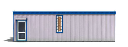 Το μεγάλο ρυμουλκό κατασκευής που απομονώνεται άσπρο σε τρισδιάστατο δίνει Στοκ Εικόνα