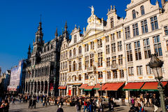 Το μεγάλο τετράγωνο παλατιών στις Βρυξέλλες Στοκ Φωτογραφίες