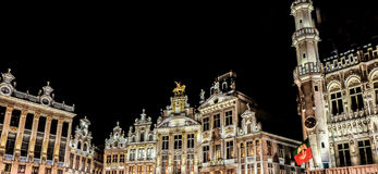 Το μεγάλο τετράγωνο παλατιών στις Βρυξέλλες Στοκ φωτογραφίες με δικαίωμα ελεύθερης χρήσης