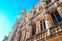 Το μεγάλο τετράγωνο παλατιών στις Βρυξέλλες Στοκ Εικόνες