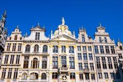 Το μεγάλο τετράγωνο παλατιών στις Βρυξέλλες Στοκ Φωτογραφία