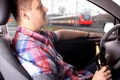 Το μεθυσμένο άτομο προκαλεί το ατύχημα Στοκ Εικόνα