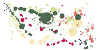 Το μελάνι λεκιάζει grunge το διάνυσμα υποβάθρου Διαστισμένο μελάνι splatter, λεκέδες ψεκασμού, στοιχεία σημείων λάσπης, γκράφιτι  ελεύθερη απεικόνιση δικαιώματος