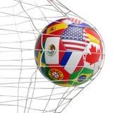 Το Μεξικό Αμερική Καναδάς σημαιοστολίζει την τρισδιάστατος-απεικόνιση σφαιρών απεικόνιση αποθεμάτων