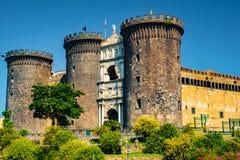 Το μεσαιωνικό κάστρο Maschio Angioino Στοκ Φωτογραφίες
